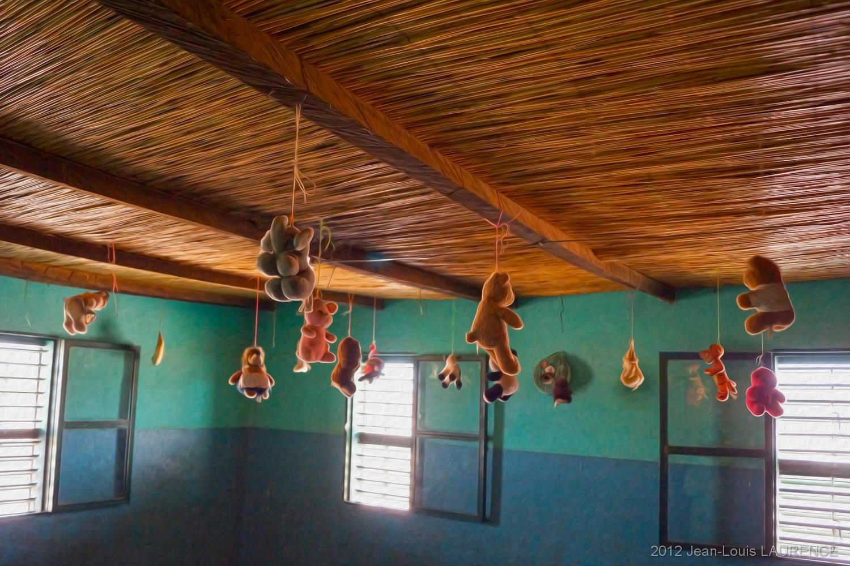 Salle de sieste de l'orphelinat. Burkina Faso