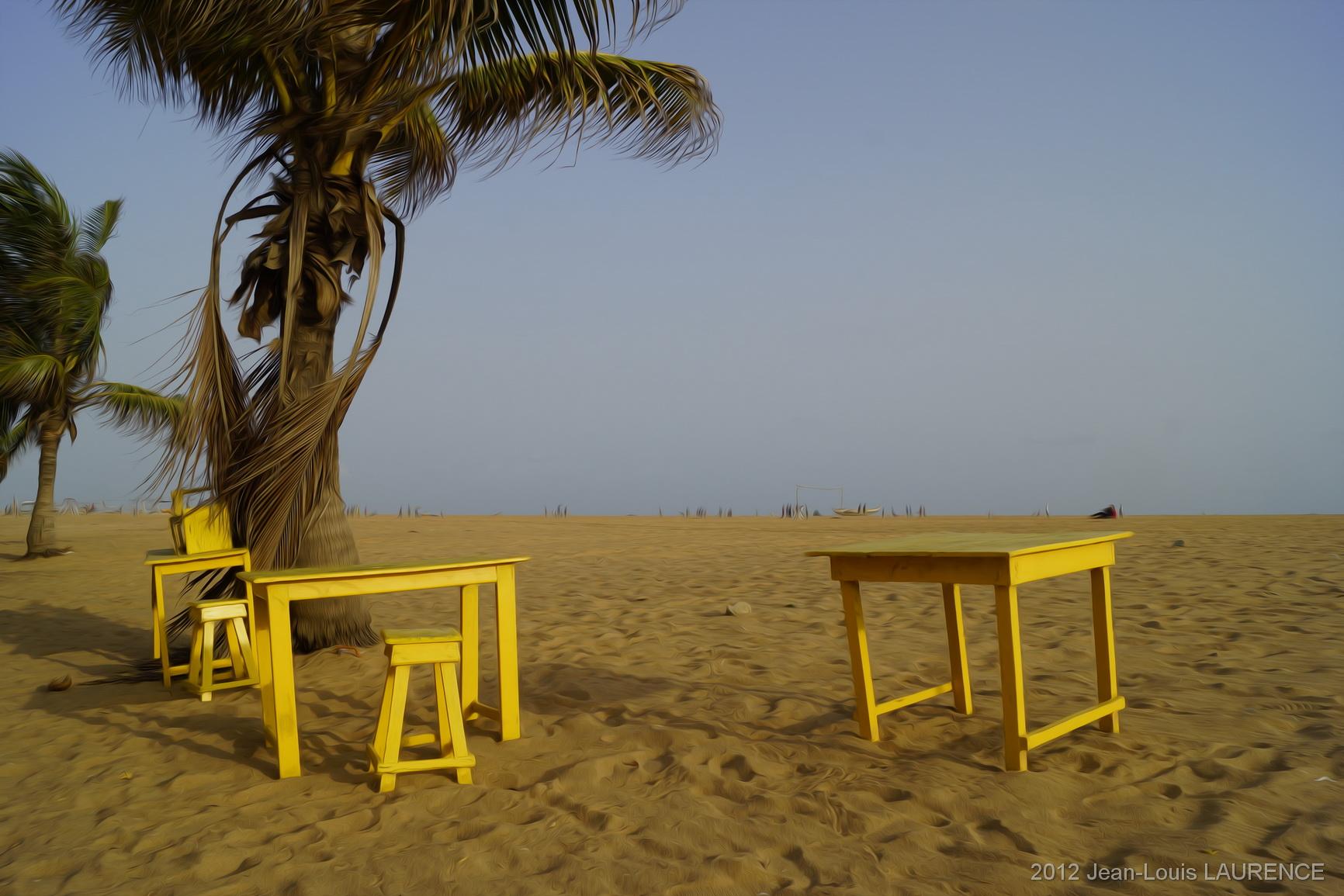 Le bar, c'est la plage. Cotonou Bénin